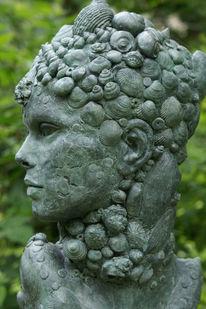 Wassergöttin, Meerjungfrau, Skulptur, Gartenskulptur