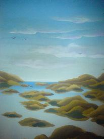 Insel, Welle, Meer, Gischt