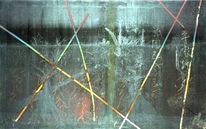 Malerei, Abstrakt, Schlacht, Bergen