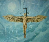 Flügel, Surreal, Acrylmalerei, Himmel