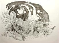Albtraum, Tusche, Surreal, Zeichnungen