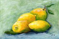 Gelb, Zitrone, Malerei,