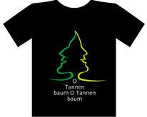 Profil, Richtung, Tannenbaum, Weihnachten