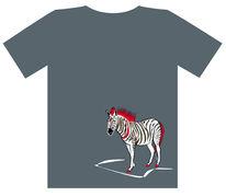 Zebra, Rot, Tiere, Weiß