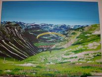 Berge, Oberstdorf, Gleitschirmfliegen, Allgäuer