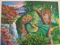 Landschaft, Elfen, Anderswelt, Fantasie