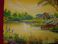 Frühling, Ufer, Morgenstimmung, See
