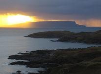 Fotografie, Reiseimpressionen, Sonnenuntergang, Schottland