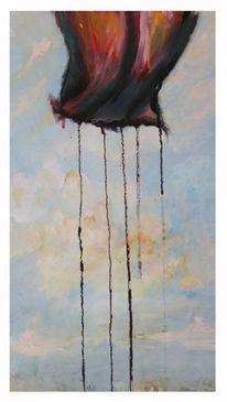 Rose, Himmel, Malerei, Surreal