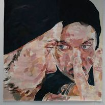 Portrait, Gesicht, Mann, Malerei