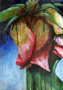 Verwelken, Rose, Malerei