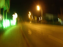 Dunkel, Straße, Fotografie, Abstrakt