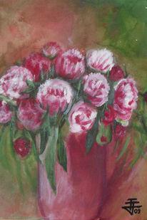 Blumen, Vase, Malerei, Pflanzen