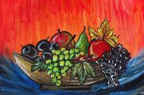 Obst, Apfel, Obstschale, Schale