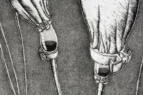 Infusion, Triptychon, Arzt, Medizin