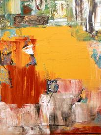 Spachteltechnik, Abstrakt, Acrylmalerei, Farbschichten