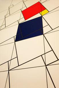 Blau, Formen, Rot, Gelb