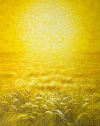 Buglau, Kornfeld, Sonne, Malerei