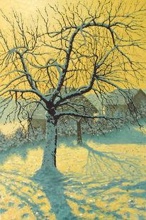 Sonne, Schnee, Winter, Malerei