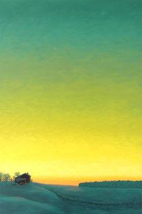 Wintersonne, Ozonschicht, Winterstimmung, Malerei