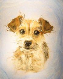 Welpe, Hund, Malerei, Tiere