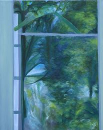 Räumlichkeit, Spiegelung, Landschaft, Malerei