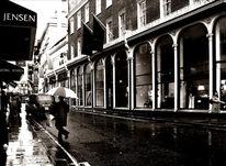 Großstadt, Regen, Klassisch, Stadt