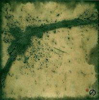 Abstrakt, Materialbilder, Malerei