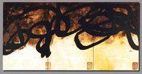 Malerei, Triptychon, Abstrakt