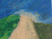 Acrylmalerei, Strukturgel, Malerei, Weite