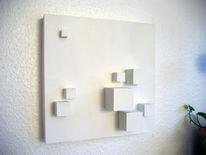 Raum, 3d, Wandskulptur, Abstrakt