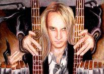 Gefangen, Finger, Gitarre, Hände