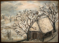 Tauwetter, Haus, Winter, Hütte