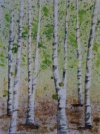 Weiß, Wald, Malen, Blätter