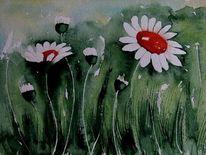 Garten, Sommer, Malen, Blumen