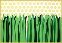 Sommer, Grün, Sonne, Gras