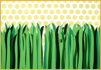 Grün, Sonne, Gras, Spinne