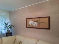 Orchidee, Pflanzen, Blumen, Acrylmalerei