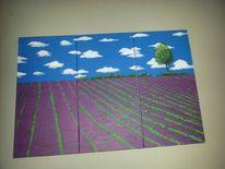 Provence, Acrylmalerei, Malen, Gemälde