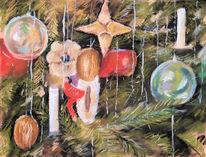 Weihnachten, Stillleben, Malerei