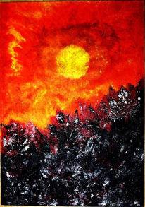 Acrylmalerei, Malerei, Abstrakt, Erwartung