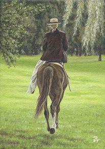 Pferde, Reiten, Romantisch, Malerei