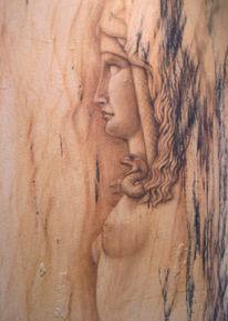 Relief, Acrylmalerei, Sandstein, Airbrush
