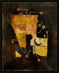 Malerei, Abstrakt, Balance