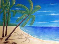 Strand, Urlaub, Palmen, Meer