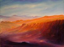 Wüste, Schlucht, Malerei