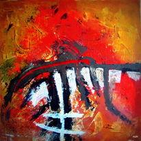 Afrika, Schwarz, Rot, Malerei