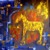Gold, Rüstung, Pferde, Malerei