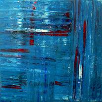 Expressionismus, Spachteltechnik, Abstrakt, Blau