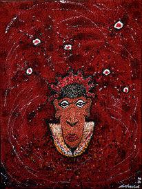 Mond, Afrika, Mystik, Textil